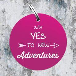 "Sondermarke ""Say YES to new adventures"" in pink"