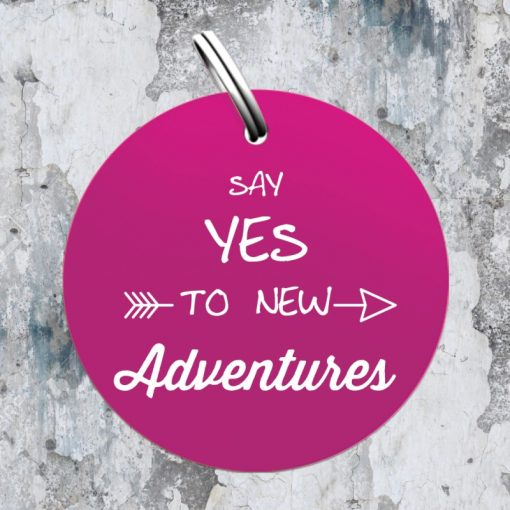 "Sondermarke ""Say YES to new adventures"" in pink"