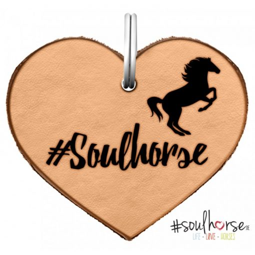 """Ledermarke """"Soulhorse"""" als Herz"""