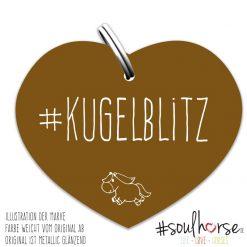"""""""Kugelblitz"""" Herz bronze"""