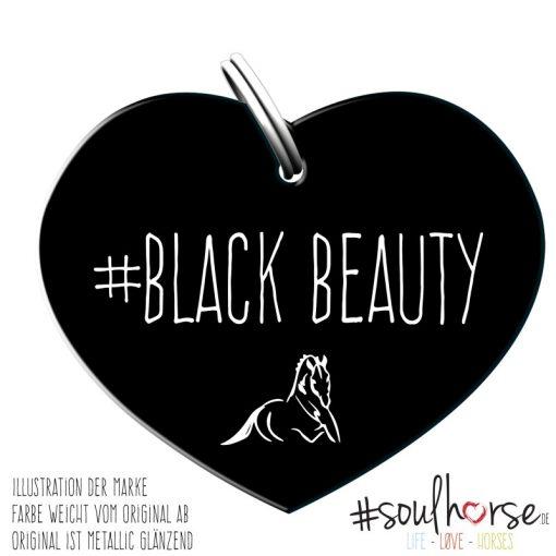 Black Beauty Herz schwarz