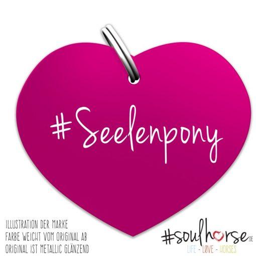 Seelenpony Herz pink