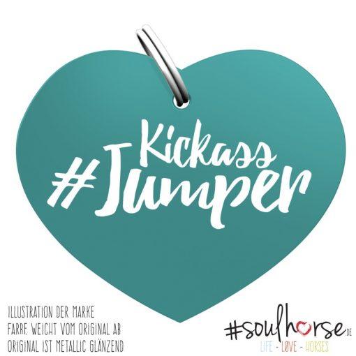 Kickass Jumper Herz türkis