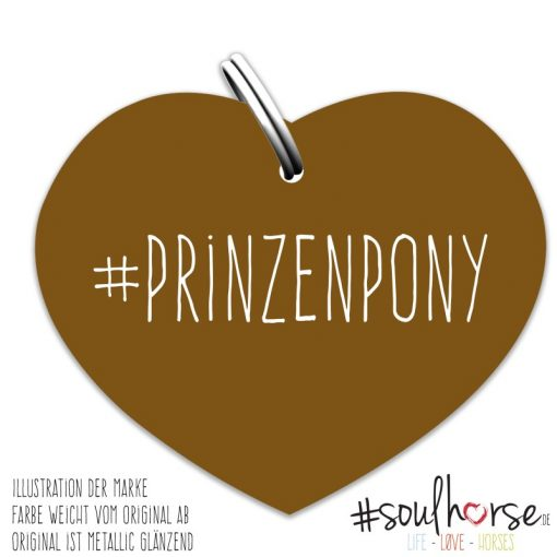 Prinzenpony Herz bronze