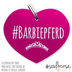 """Herzmarke """"Barbiepferd"""" in pink"""