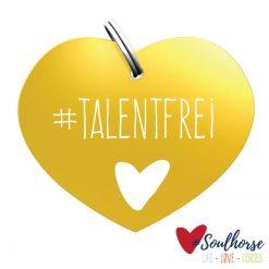 """Sondermarke """"talentfrei"""" gold"""