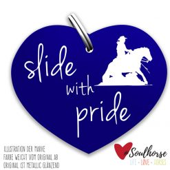 """slide with pride"" blau"
