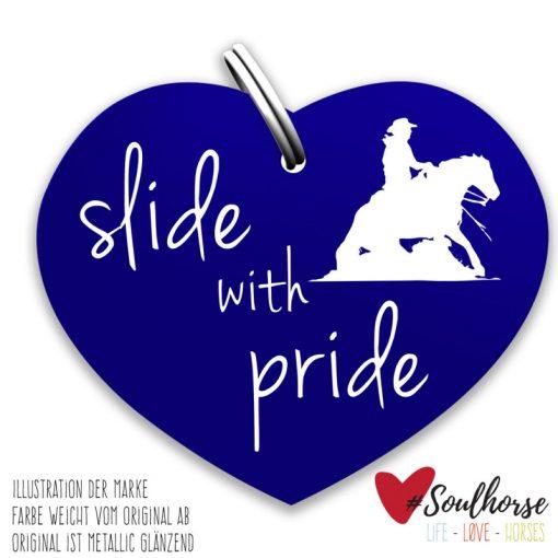 """""""slide with pride"""" blau"""