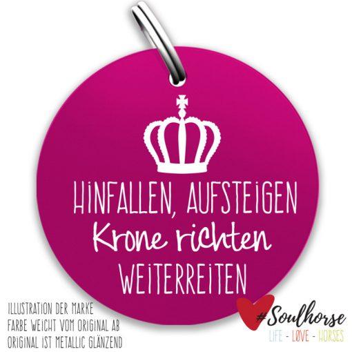 """""""Krone richten"""" Ronde in pink"""