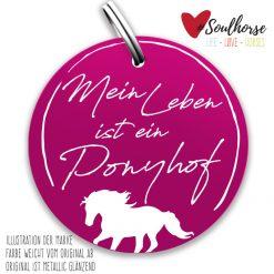 """""""Mein Leben ist ein Ponyhof"""" Ronde pink"""