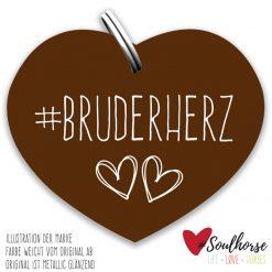 """""""Bruderherz"""" Herz bronze"""