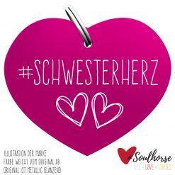 """""""Schwesterherz"""" Herz rose"""