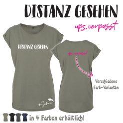 """SH18 Shirt """"Distanz gesehen - Ups verpasst"""" in 4 Farben"""