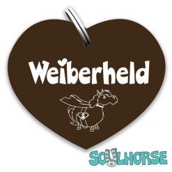 """""""Weiberheld"""" Herz bronze"""