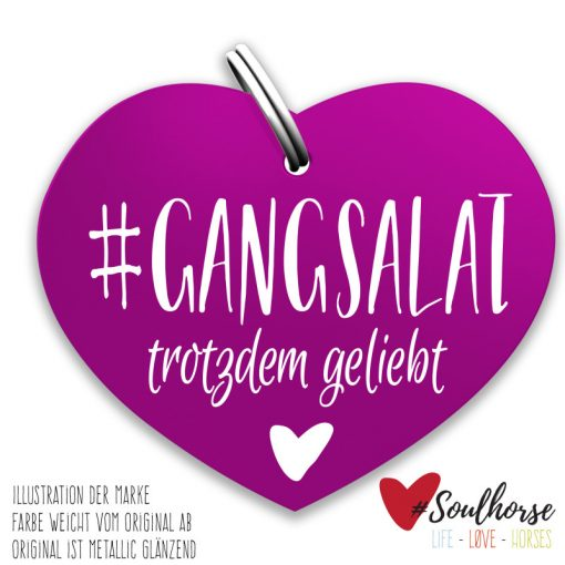 Gangsalat Herz rot