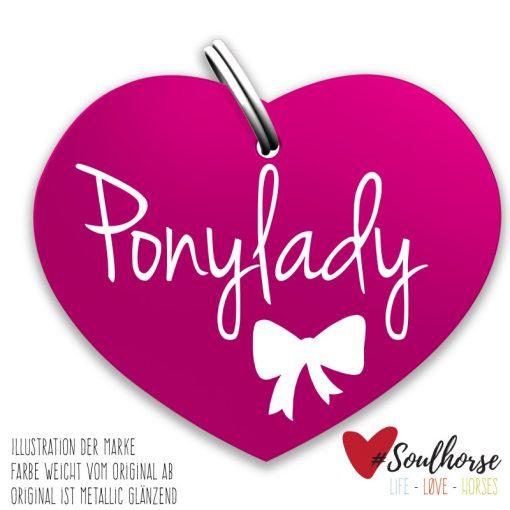 Ponylady Herz pink
