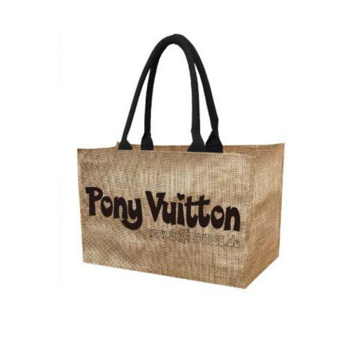 Pony Vuitton Tasche Jute