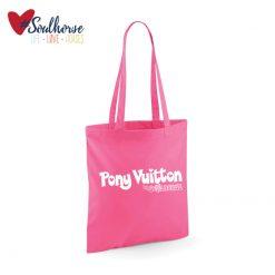 """Baumwollbeutel """"Pony Vuitton"""" pink"""