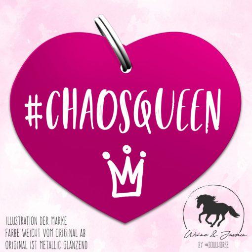 """Chaosqueen"" Herzmarke pink"