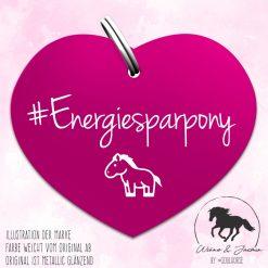 """""""Energiesparpony"""" Herzmarke pink"""