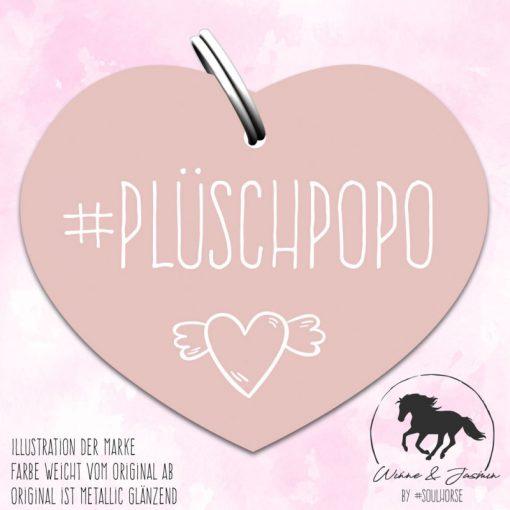 """""""Plüschpopo"""" Herzmarke rose"""