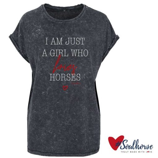 """Loves horses"" T-Shirt im Batik Look"