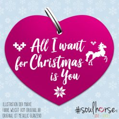 """All i want for Christmas is you"" Herz pink"