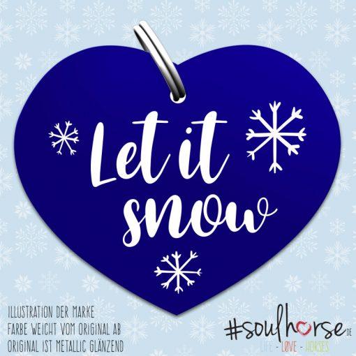 """Let it snow"" Herz blau Herz"