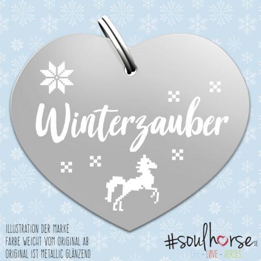 """""""Winterzauber"""" Herz silber"""