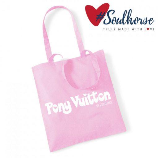 "Baumwollbeutel ""Pony Vuitton"" rosa"