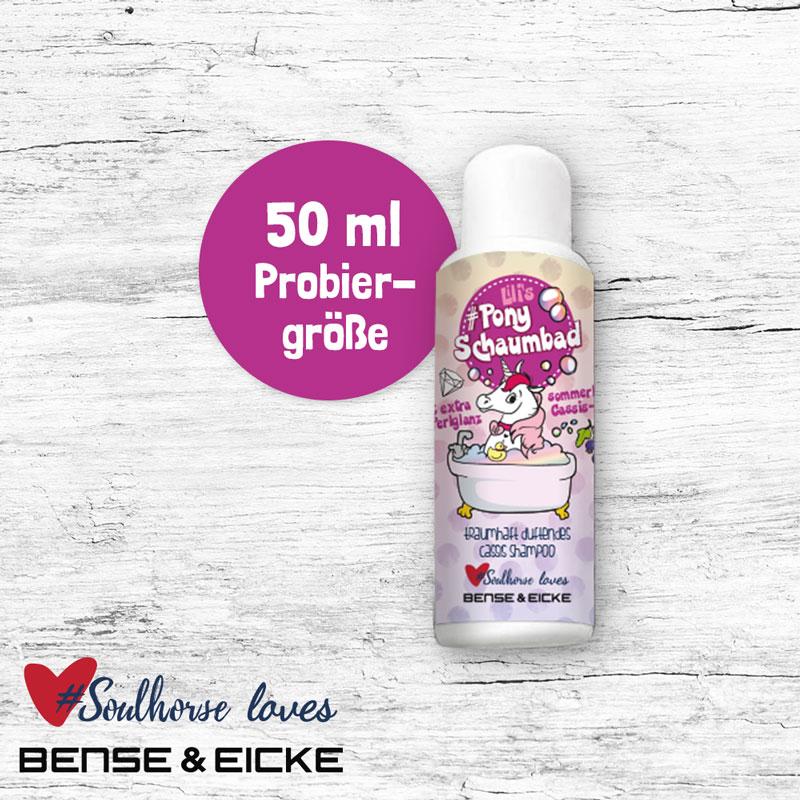 """Probierflasche """"Ponyschaumbad"""" 50 ml"""