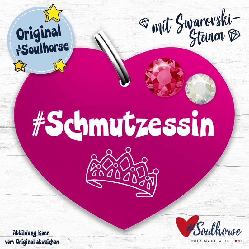 """""""Schmutzessin"""" Marke mit Swarovski pink"""