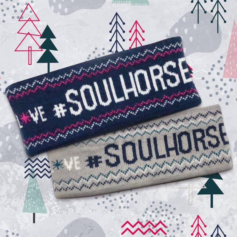 """Stirnband """"Love Soulhorse"""" super flauschig"""